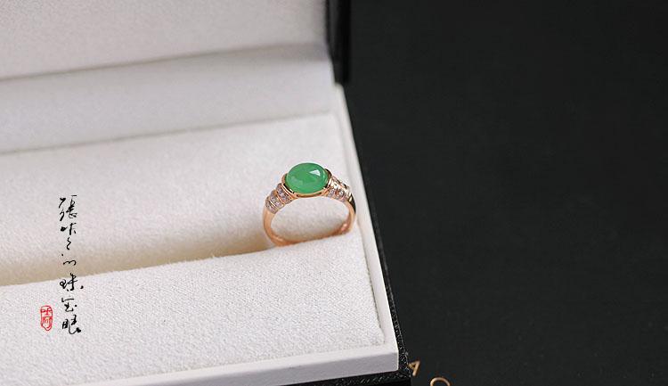 戒指的季节,冰绿冰白翡翠戒指系列